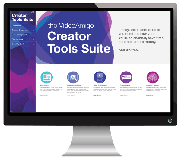 VideoAmigo's Creator marketing tools suite