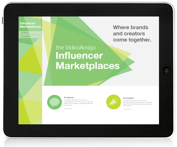 VideoAmigo's influencer marketing platform
