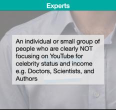 Description – Experts