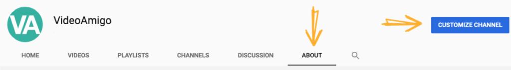 YouTube channel About description