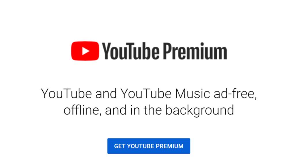 Image of YouTube Premium from https://www.youtube.com/premium.